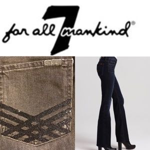 74AMK high waist bootcut glitter pocket jeans 28